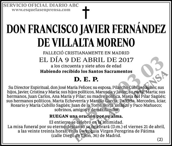 Francisco Javier Fernández de Villalta Moreno
